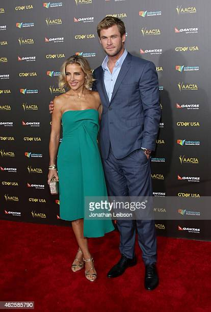 Actors Elsa Pataky and Chris Hemsworth attend the 2015 G'Day USA GALA featuring the AACTA International Awards presented by QANTAS at Hollywood...