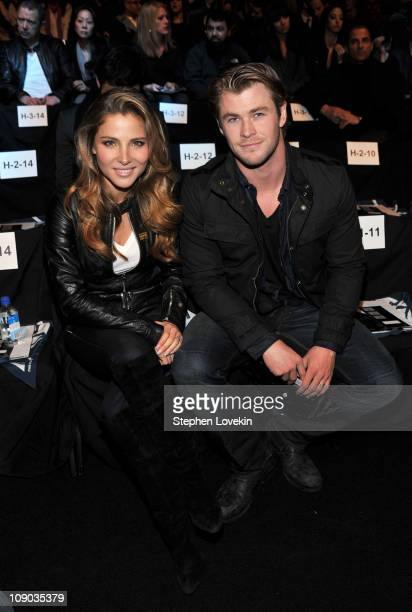 Actors Elsa Pataky and Chris Hemsworth attend the GStar Raw Fall 2011 fashion show during MercedesBenz Fashion Week at The Theatre at Lincoln Center...