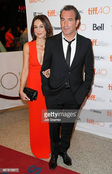 Actors Elsa Zylberstein and Jean Dujardin attend the 'Un Plus Une' photo call during the 2015 Toronto International Film Festival at Winter Garden...