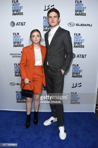 Actors Elsie Fisher and Bo Burnham attend the 2019 Film Independent Spirit Awards nominee brunch at BOA Steakhouse on January 5 2019 in West...