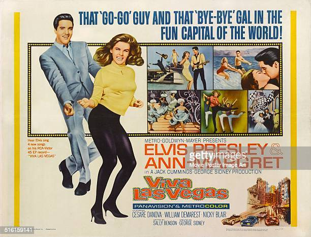 Actors Elvis Presley and AnnMargret appear on a poster for the MGM movie 'Viva Las Vegas' 1964