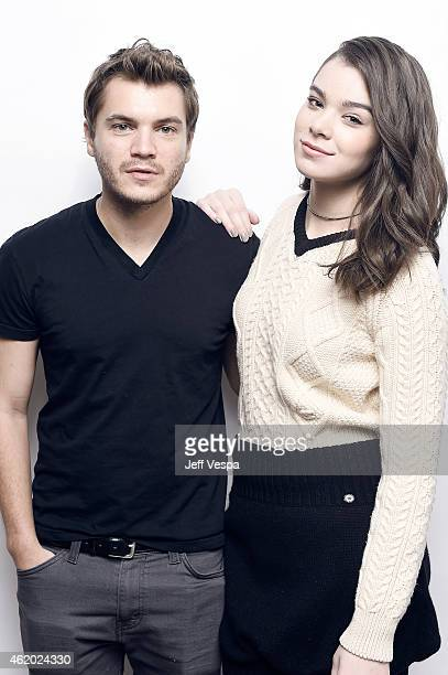 Actors Emile Hirsch and Hailee Steinfeld from 'Ten Thousand Saints' pose for a portrait at the Village at the Lift Presented by McDonald's McCafe...