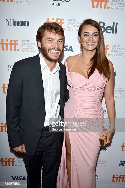 Actors Emile Hirsch and Penélope Cruz arrive at the 'Twice Born' premiere during the 2012 Toronto International Film Festival on September 13 2012 in...