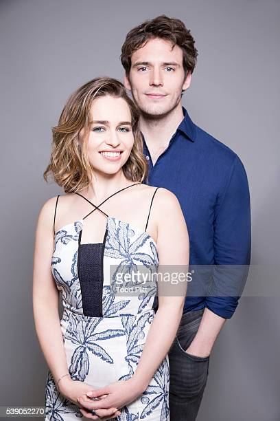 Actors Emilia Clarke and Sam Claflin are photographed for USA Today on May 7 2016 in New York City