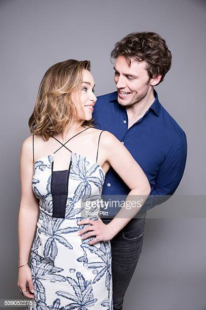 Actors Emilia Clarke and Sam Claflin are photographed for USA Today on May 7 2016 in New York City PUBLISHED IMAGE