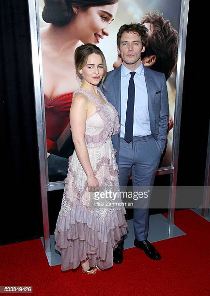 Actors Emilia Clarke and Sam Claflin attend the Me Before You World Premiere at AMC Loews Lincoln Square 13 theater on May 23 2016 in New York City