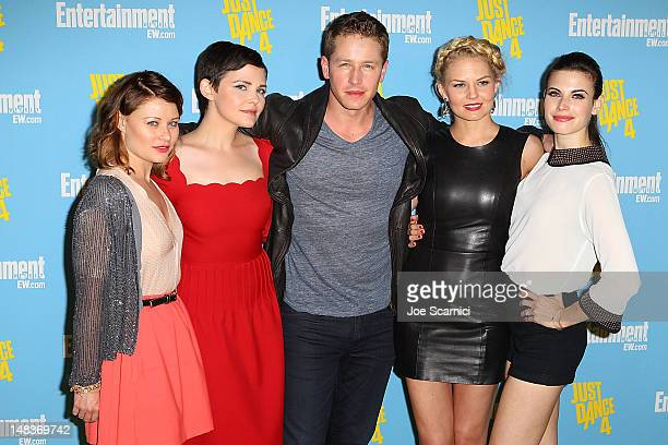Actors Emilie de Ravin Ginnifer Goodwin Josh Dallas Jennifer Morrison and Meghan Ory arrive at Entertainment Weekly's ComicCon Celebration at Float...