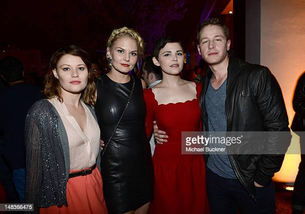 Actors Emilie de Ravin Jennifer Morrison Ginnifer Goodwin and Josh Dallas attend Entertainment Weekly's 6th Annual ComicCon Celebration sponsored by...