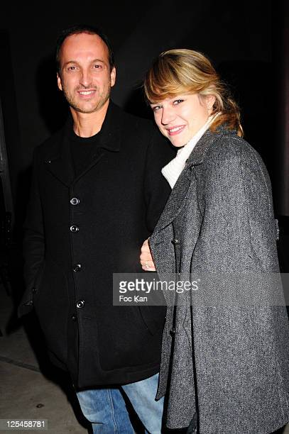 Actors Emilie Dequenne and Michel Ferracci attend the 10th Anniversary of Power plate and the 'Power Bike' Launch Party at Le 104 on October 7, 2010...