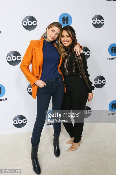 Actors Emily Arlook and Francia Raisa attend the Disney and ABC Television 2019 TCA Winter press tour at The Langham Huntington Hotel and Spa on 05...
