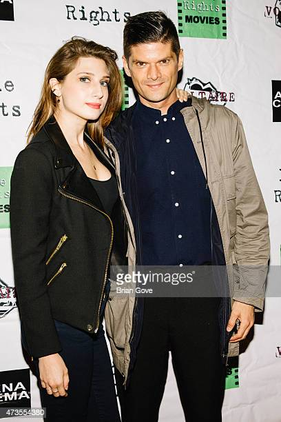 Actors Emily Arlook and Will McCormack arrive at the premiere of Indie Rights' Miles To Go' Arena Cinema Hollywood on May 15 2015 in Hollywood...