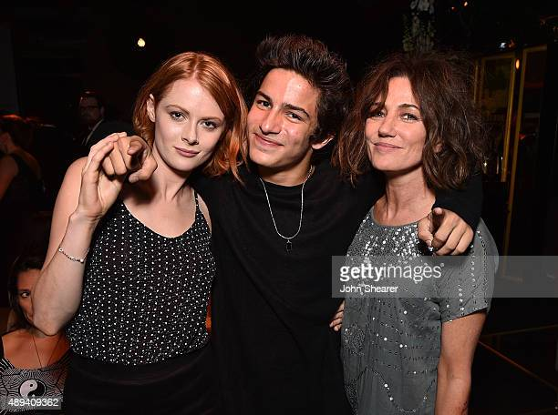 Actors Emily Beecham Aramis Knight and Orla Brady attend the AMC BBC America IFC And SundanceTV Emmy After Party at BOA Steakhouse on September 20...