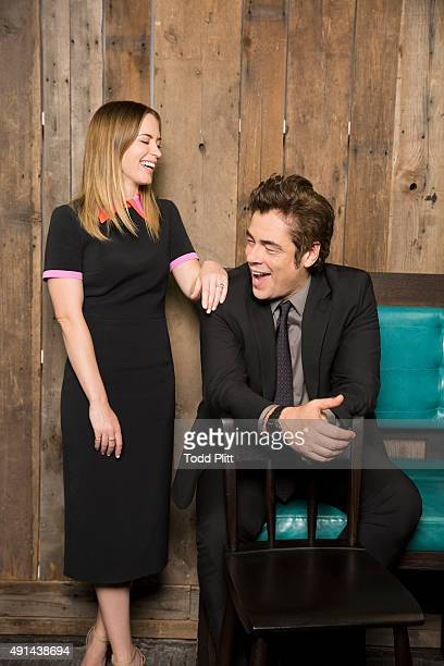 Actors Emily Blunt and Benicio Del Toro are photographed for USA Today on September 16 2015 in New York City PUBLISHED IMAGE