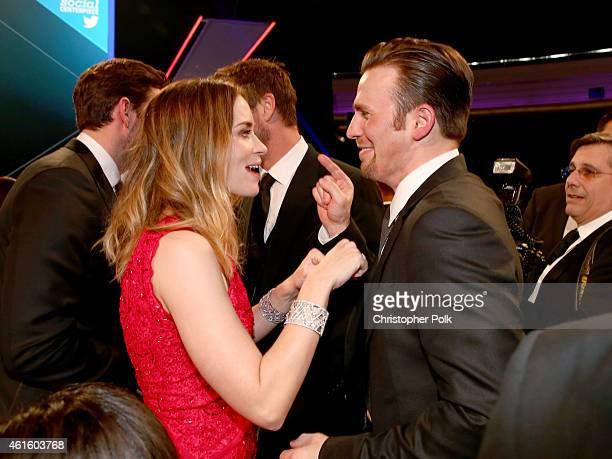 Actors Emily Blunt and Chris Evans attend the 20th annual Critics' Choice Movie Awards at the Hollywood Palladium on January 15 2015 in Los Angeles...