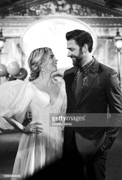 Actors Emily Blunt and John Krasinski attend Disney's 'Mary Poppins Returns' World Premiere at the Dolby Theatre on November 29, 2018 in Hollywood,...