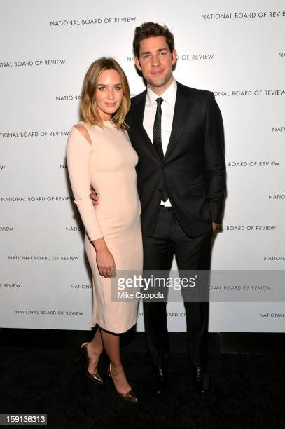 Actors Emily Blunt and John Krasinski attend the 2013 National Board Of Review Awards Gala at Cipriani 42nd Street on January 8 2013 in New York City