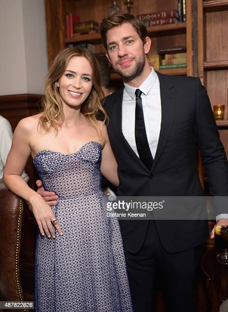 Actors Emily Blunt and John Krasinski attend the Sicario TIFF party hosted by GREY GOOSE Vodka and Soho Toronto at Soho House Toronto on September...