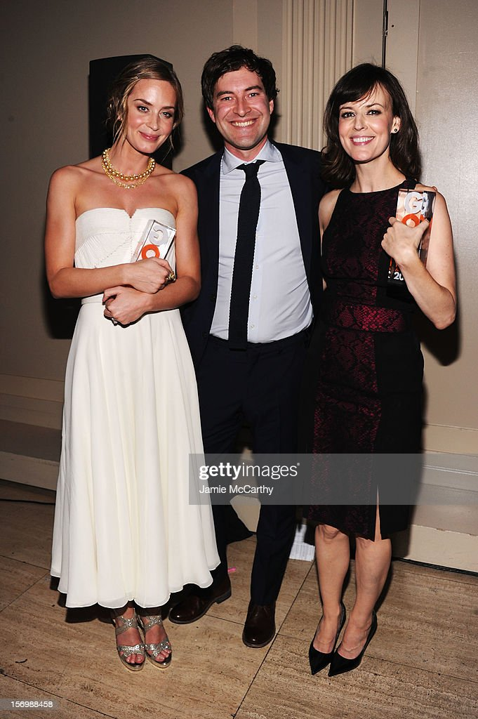 Actors Emily Blunt, Mark Duplass, and Rosemarie DeWitt attend the IFP's 22nd Annual Gotham Independent Film Awards at Cipriani Wall Street on November 26, 2012 in New York City.