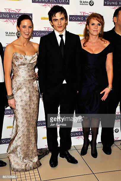Actors Emily Blunt, Rupert Friend and Sarah Ferguson, the Duchess of York arrives for 'The Young Victoria' World Premiere held at the Odeon,...