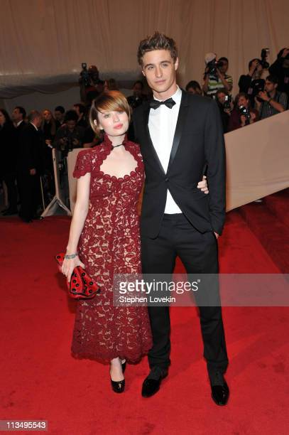 Actors Emily Browning and Max Irons attend the Alexander McQueen Savage Beauty Costume Institute Gala at The Metropolitan Museum of Art on May 2 2011...