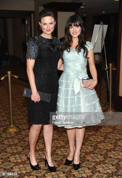 Actors Emily Deschanel and sister Zooey Deschanel arrive at the 24th Annual American Society of Cinematographers 24th Annual Outstanding Achievement...