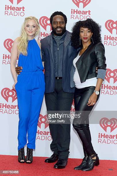 Actors Emily Kinney Chad L Coleman and Sonequa MartinGreen attend the 2014 iHeartRadio Music Festival at the MGM Grand Garden Arena on September 19...