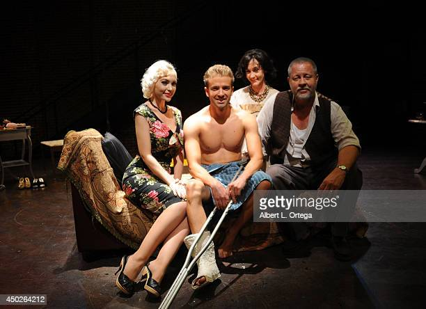 Actors Emily Low Anton Troy Gaby Eubank and John Lacy at Tennessee William's Cat On A Hot Tin Roof Special Performance To Benefit NOH8 on Gay Pride...