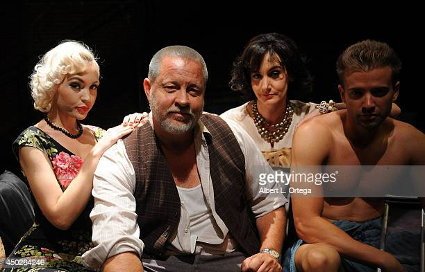 Actors Emily Low John Lacy Gaby Eubank and Anton Troy at Tennessee William's Cat On A Hot Tin Roof Special Performance To Benefit NOH8 on Gay Pride...