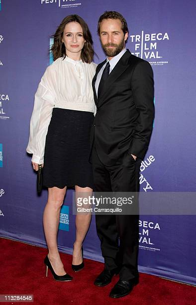 Actors Emily Mortimer and Alessandro Nivola attend the premiere of 'Janie Jones' during the 10th Tribeca Film Festival at SVA Theater on April 29...
