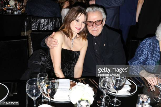 Actors Emily Mortimer and Harvey Keitel attend the Museum of Modern Art Film Benefit Presented by Chanel A Tribute to Martin Scorsese at the Museum...