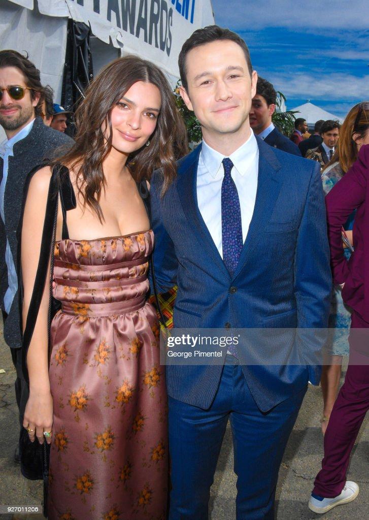 Actors Emily Ratajkowski and Joseph Gordon-Levitt attend the 2018 Film Independent Spirit Awards on March 3, 2018 in Santa Monica, California.