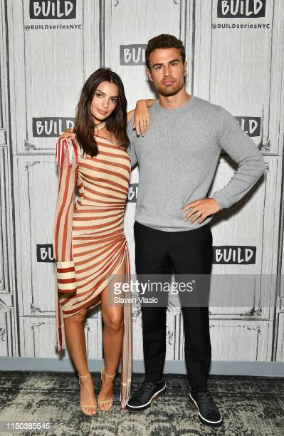 Actors Emily Ratajkowski and Theo James visit Build Series to discuss crime drama Lying and Stealing at Build Studio on June 17 2019 in New York City