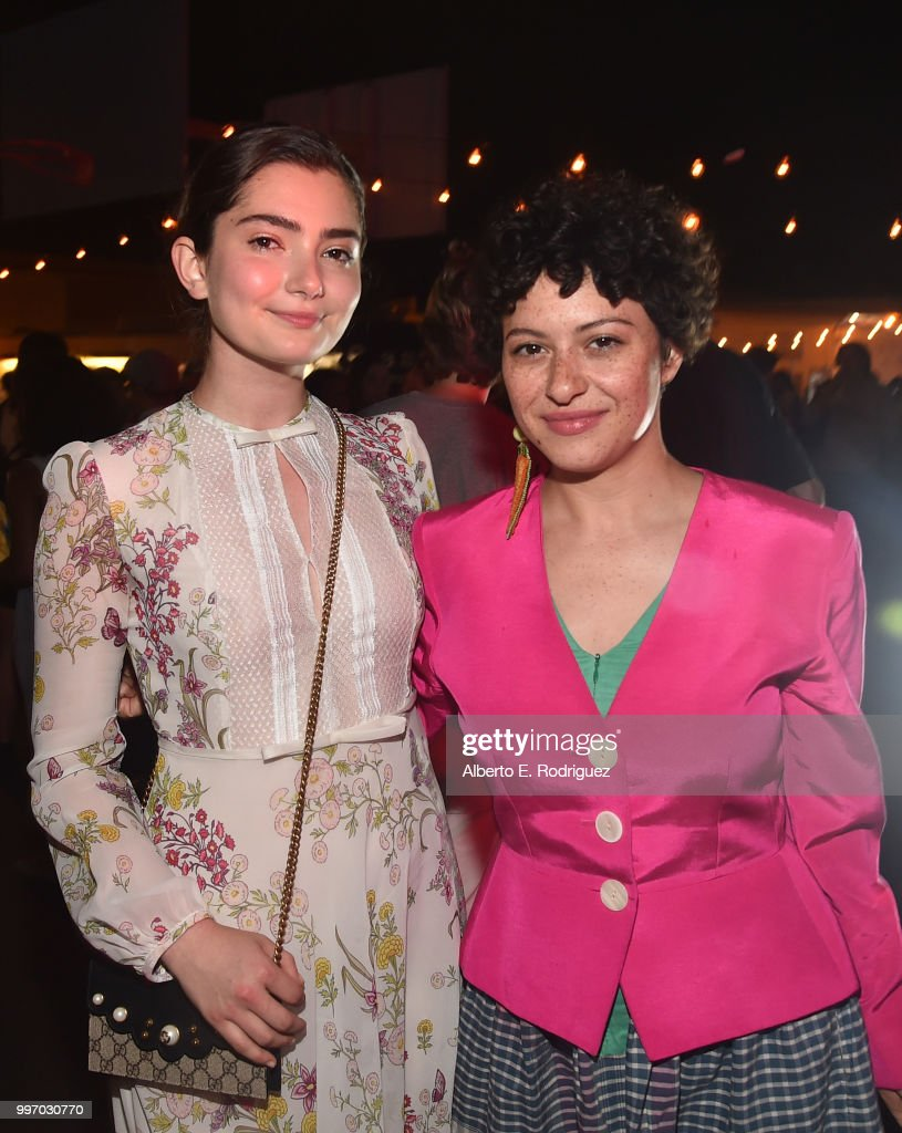 Actors Emily Robinson and Alia Shawkat attend the after party for a screening of A24's 'Eigth Grade' at Le Conte Middle School on July 11, 2018 in Los Angeles, California.