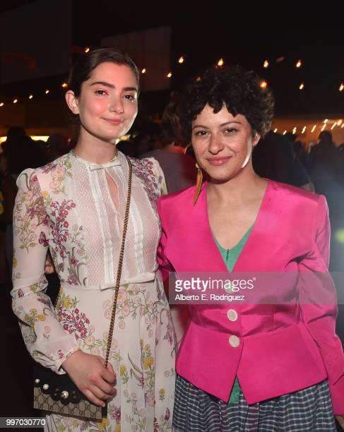 Actors Emily Robinson and Alia Shawkat attend the after party for a screening of A24's 'Eigth Grade' at Le Conte Middle School on July 11 2018 in Los...