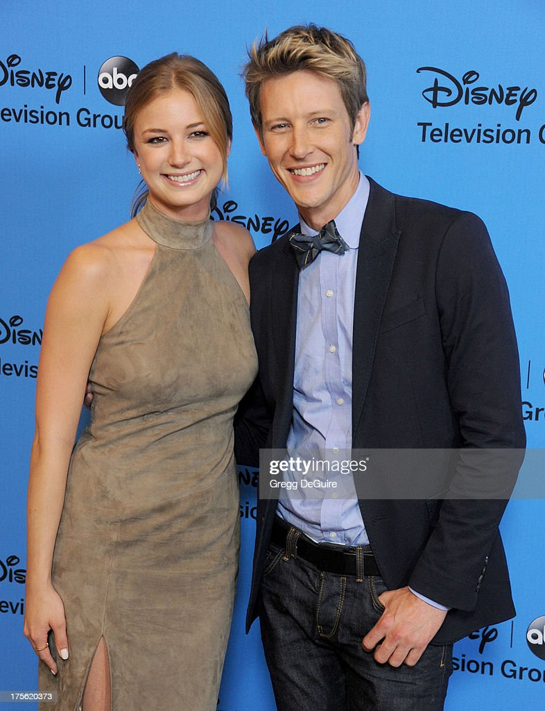 Actors Emily VanCamp and Gabriel Mann arrive at the 2013 Disney/ABC Television Critics Association's summer press tour party at The Beverly Hilton Hotel on August 4, 2013 in Beverly Hills, California.