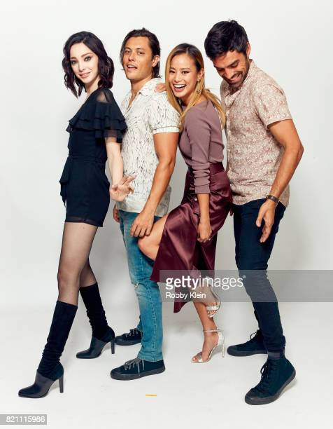 Actors Emma Dumont Blair Redford Jamie Chung and Sean Teale from FOX's 'The Gifted' pose for a portrait during ComicCon 2017 at Hard Rock Hotel San...