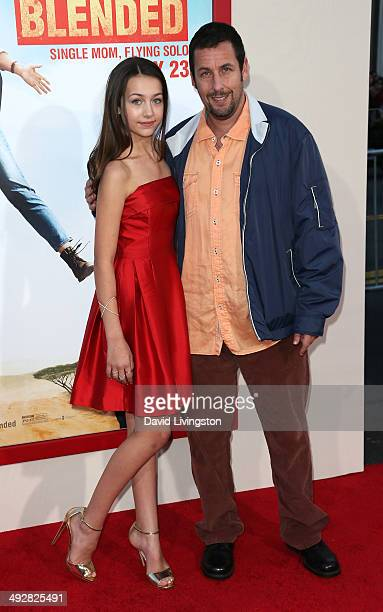 Actors Emma Fuhrmann and Adam Sandler attend the Los Angeles premiere of Blended at the TCL Chinese Theatre on May 21 2014 in Hollywood California