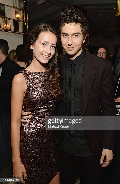 Actors Emma Fuhrmann and Nat Wolff attends the afterparty for WSJ Magazine And Forevermark Host A Special Los Angeles Screening Of Paper Towns at The...