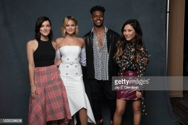 Actors Emma Lahana, Olivia Holt, Aubrey Joseph and Ally Maki from 'Marvel's Cloak and Dagger' are photographed for Los Angeles Times on July 20, 2018...