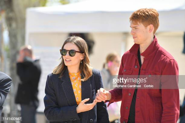 Actors Emma Mackey and Dan Whitlam attend the 2nd Canneseries International Series Festival Day Five on April 09 2019 in Cannes France