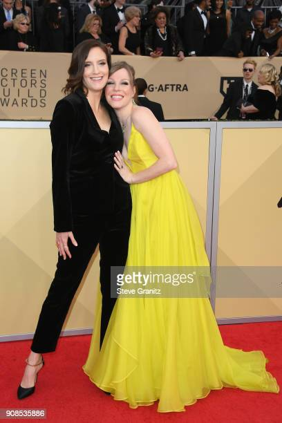 Actors Emma Myles and Julie Lake attend the 24th Annual Screen Actors Guild Awards at The Shrine Auditorium on January 21 2018 in Los Angeles...