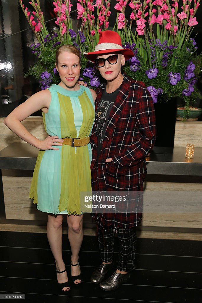 Actors Emma Myles and Lori Petty attend the Montblanc & The Cinema Society screening of Roadside Attractions & Lionsgate's 'Miss You Already' after party at The Rainbow Room on October 25, 2015 in New York City.