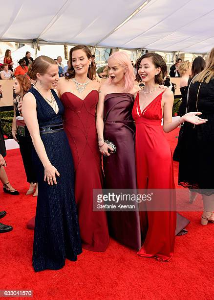 Actors Emma Myles Julie Lake Taryn Manning and Kimiko Glenn attend The 23rd Annual Screen Actors Guild Awards at The Shrine Auditorium on January 29...