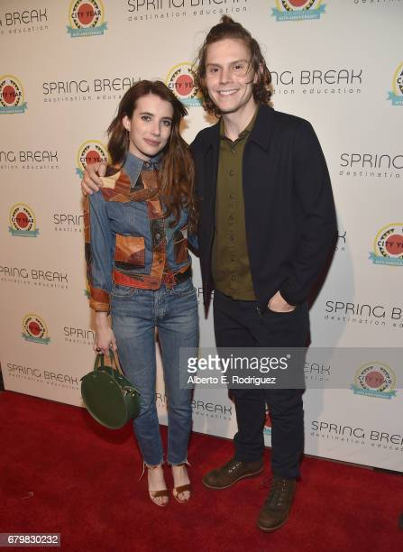 Actors Emma Roberts and Evan Peters attend City Year Los Angeles Spring Break on May 6 2017 in Los Angeles California