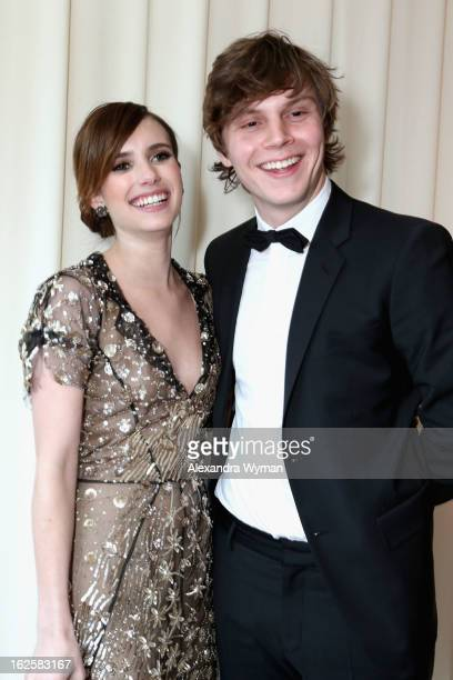 Actors Emma Roberts and Even Peters attend Grey Goose at 21st Annual Elton John AIDS Foundation Academy Awards Viewing Party at West Hollywood Park...