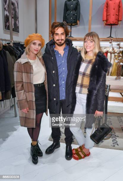 Actors Emma Roberts Avan Jogia and Jaime King attend Woolrich Yorkdale Grand Opening at Yorkdale Shopping Center on December 7 2017 in Toronto Canada