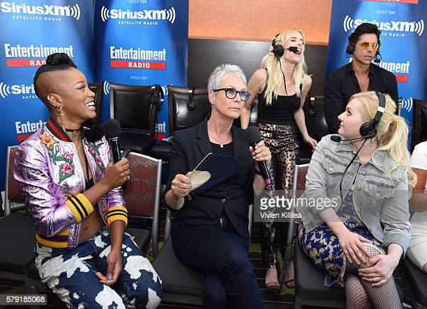 Actors Emma Roberts John Stamos Keke Palmer Jamie Lee Curtis and Abigail Breslin attend SiriusXM's Entertainment Weekly Radio Channel Broadcasts From...