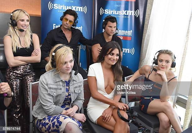 Actors Emma Roberts John Stamos Taylor Lautner Abigail Breslin Lea Michele and Billie Lourd attend SiriusXM's Entertainment Weekly Radio Channel...