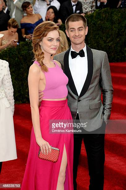 Actors Emma Stone and Andrew Garfield attends the 'Charles James Beyond Fashion' Costume Institute Gala at the Metropolitan Museum of Art on May 5...