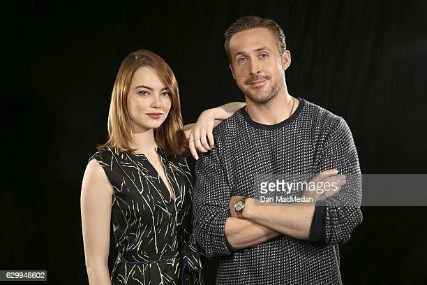 Actors Emma Stone and Ryan Gosling are photographed for USA Today on December 6 2016 in Los Angeles California PUBLISHED IMAGE